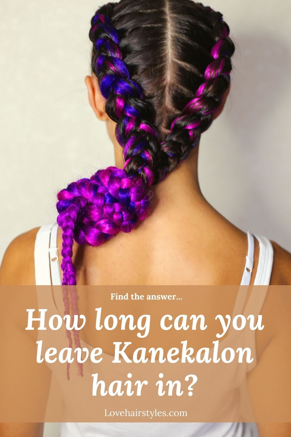 How long can you leave kanekalon hair in?