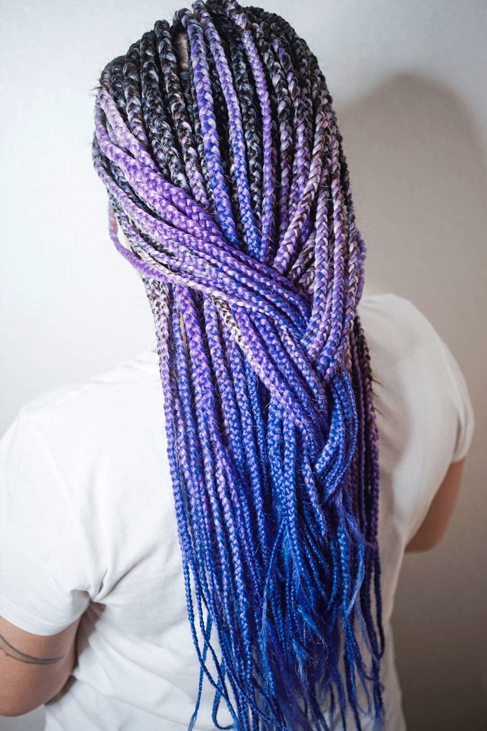 Long Kanekalon hair With Blue Ombre