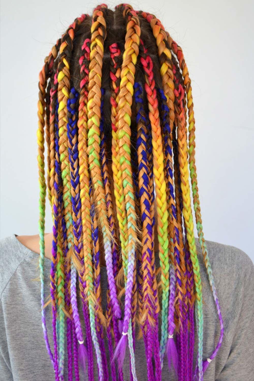Box Braids With Kanekalon Hair