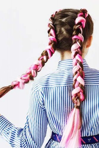 Pink Kanekalon Braids picture1