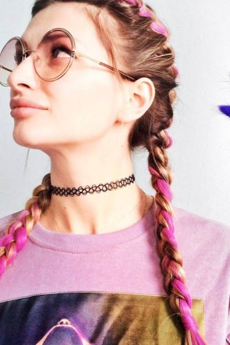 Pink Kanekalon Braids picture2
