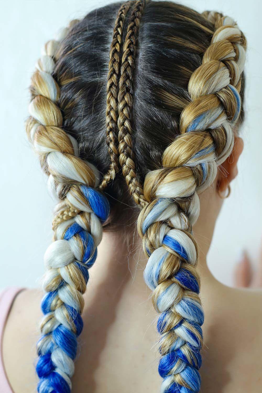 Hairstyle With Kanekalon Hair