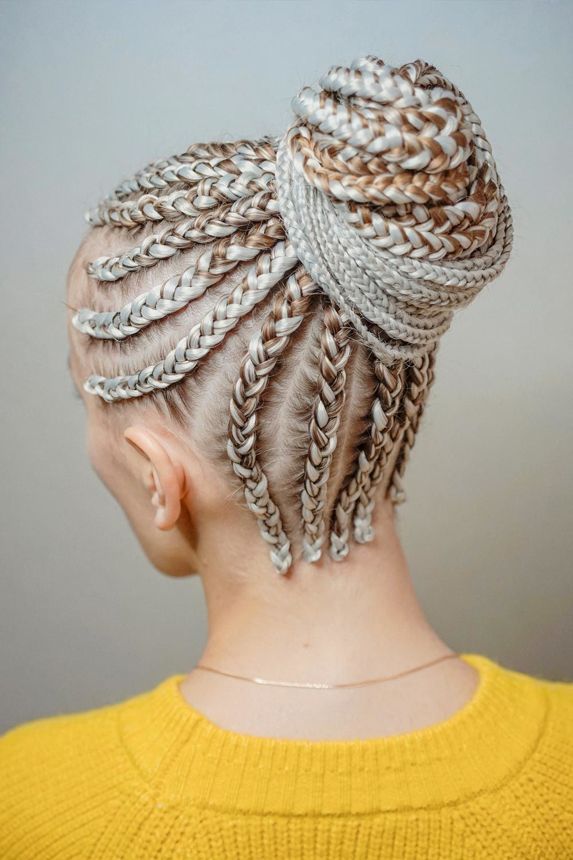 Braided Bun With Kanekalon Hair