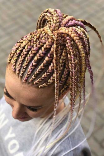 Two Colors Combination Ponytail #kanekalonhair #braids