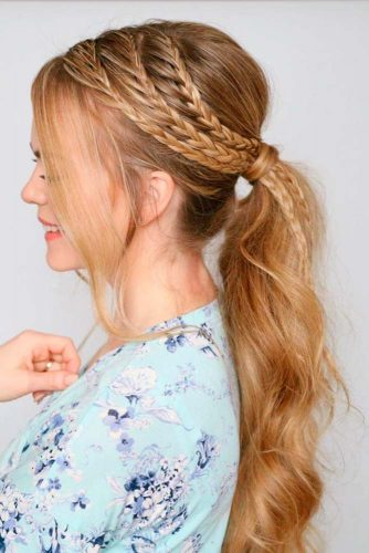 Loose and Carefree Braided Pony