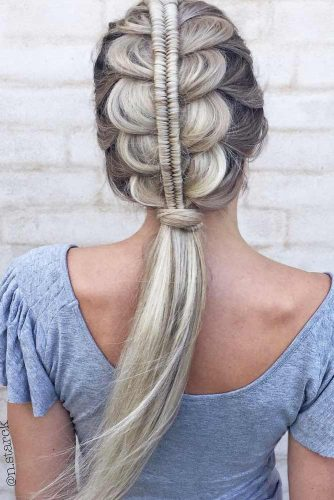Fabulous Half-Braided Ponytails picture 1