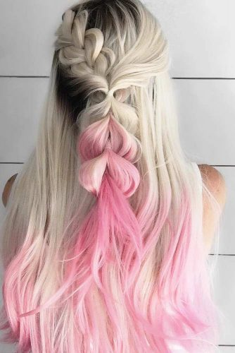 Cute Half Up Half Down Braided Pony picture 3