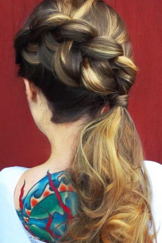 Crown Braid to Ponytail picture 2