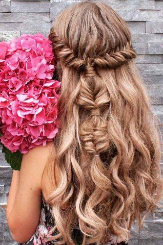 Cute Half Up Half Down Braided Pony picture 2