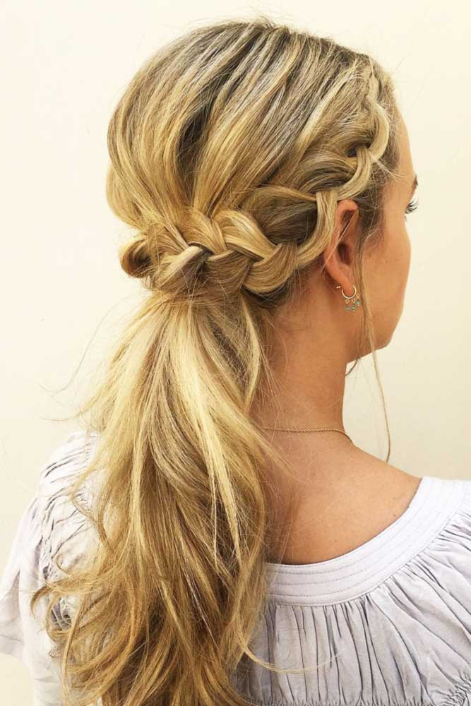 Crown Braid to Ponytail picture 1
