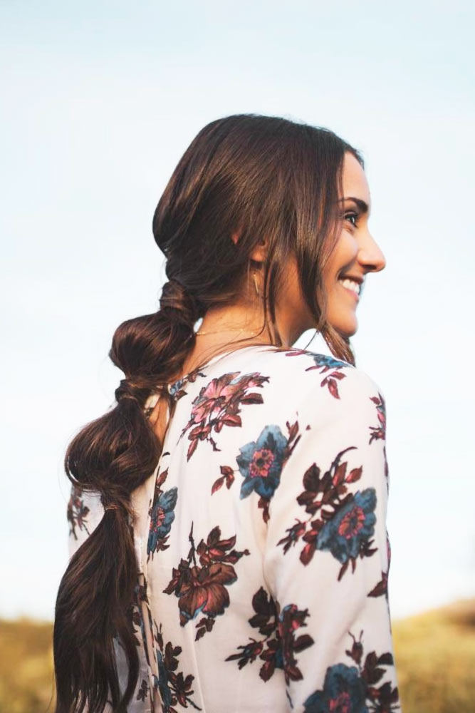 Long Hairstyles With Bubble Braid