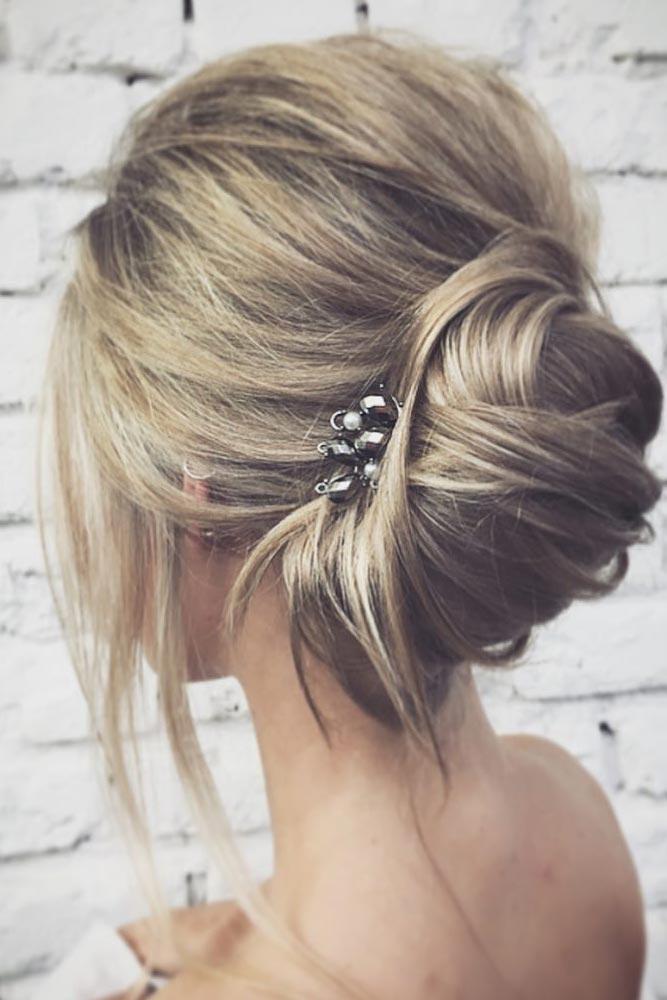 Long Hairstyles Carefree Messy Bun