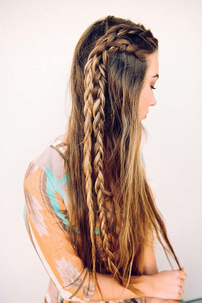 Long Side Braid Styles Full Of Glamour Double #longhairstyles