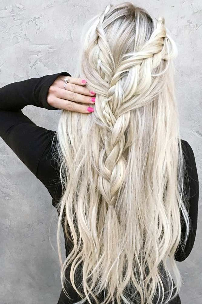 Half Up Braids For Long Hair Double #longhairstyles