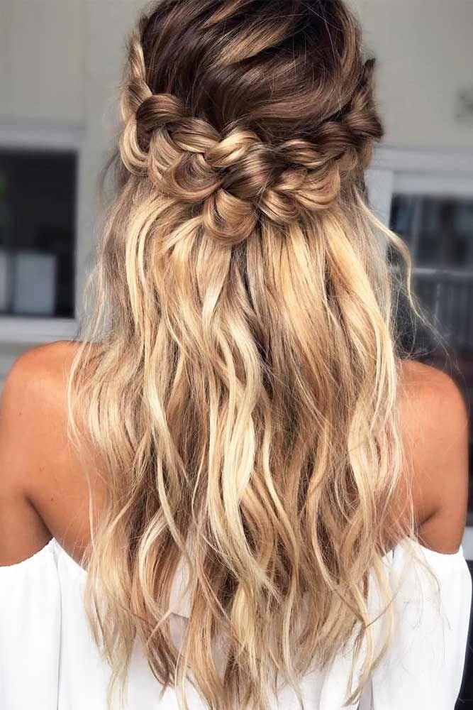 Half Up Braids For Long Hair Crown #longhairstyles