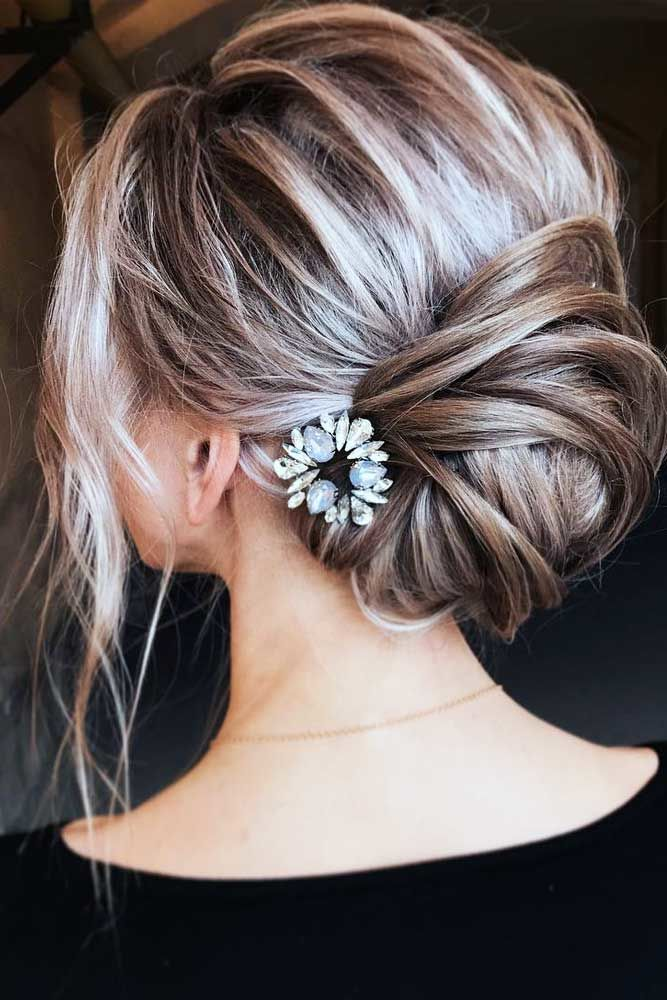 Twisted Long Hairstyles For Layered Hair Updo #longhairstyles