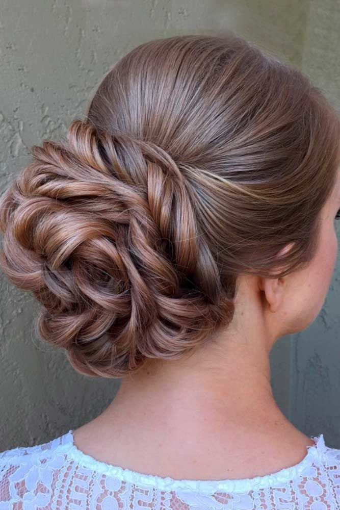 Sock Bun With Braid #longhairstyles