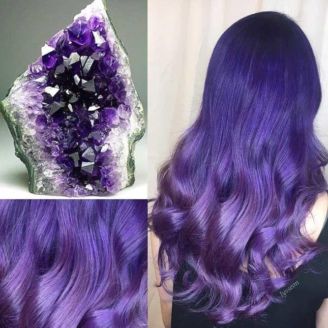 Amethyst #geodehaircolor #haircolor #crystalhair