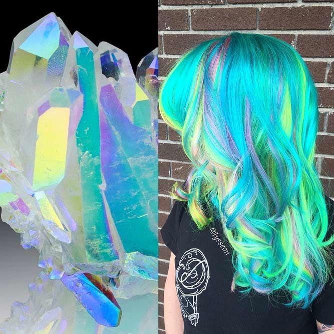 Aura Quartz #geodehaircolor #haircolor #crystalhair