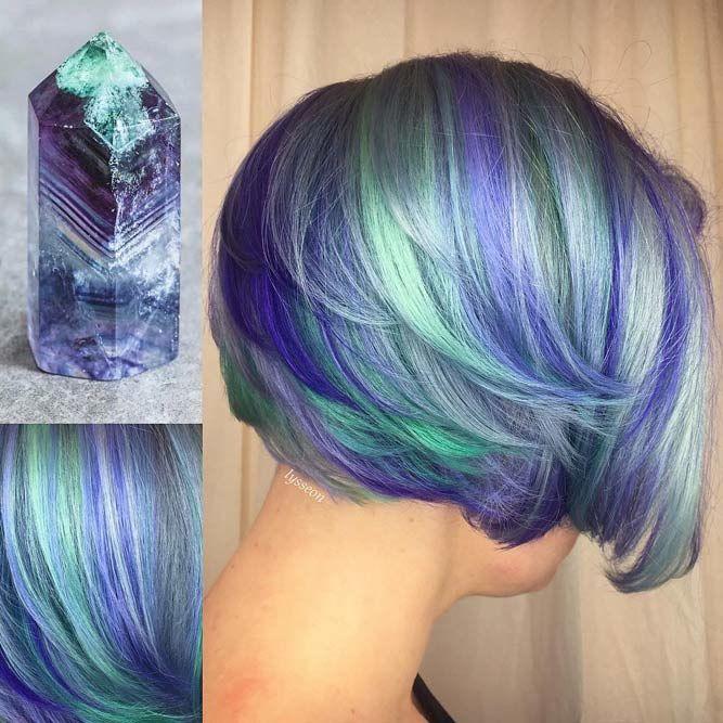 Fluorite #geodehaircolor #haircolor #crystalhair