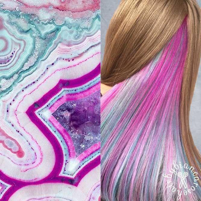 Marble Agate #geodehaircolor #haircolor #crystalhair