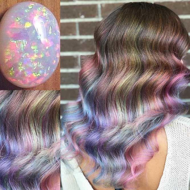 Opal #geodehaircolor #haircolor #crystalhair