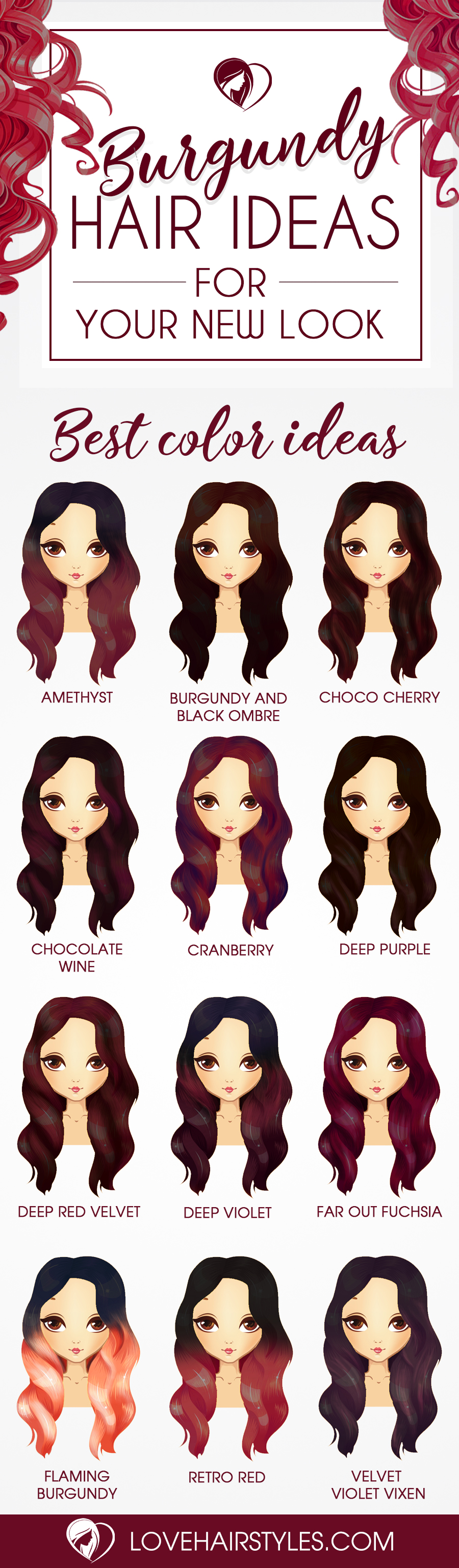 Sultry Shades of Burgundy Hair