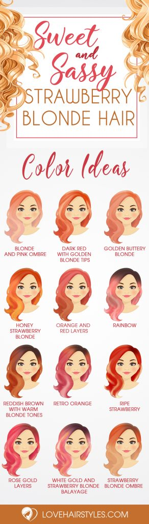 Sweet and Sassy Shades of Strawberry Blonde Hair