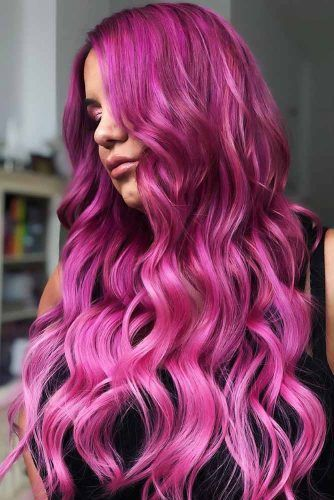 Red Purple Hair With Pink Ombre Lavender #redpurplehair #purplehair
