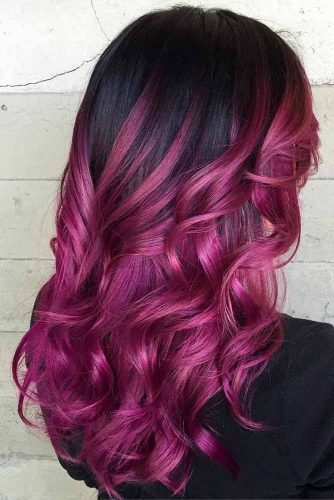 Black to Purple Red Ombre picture2