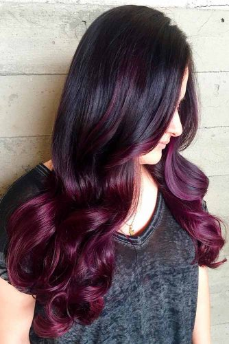 Black to Purple Red Ombre picture1