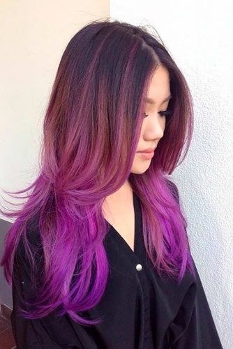 Black to Purple Red Ombre picture3