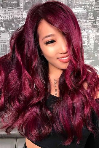 Long Plum Hair picture3
