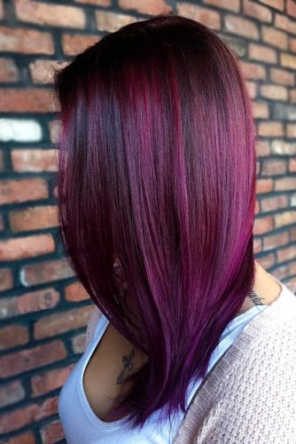 Medium Red Violet Hair picture1