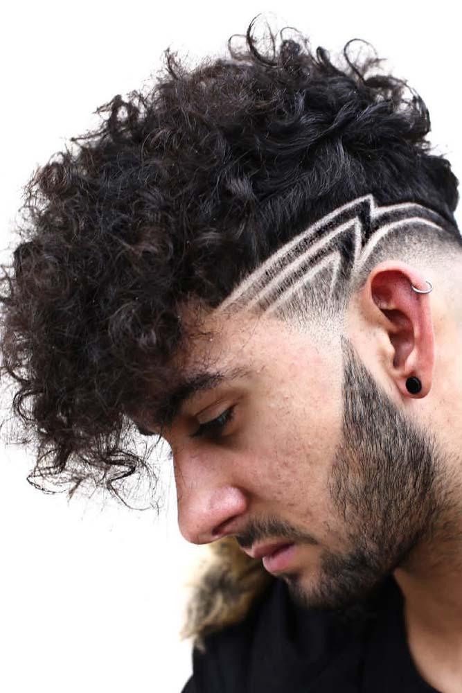Distinctive Curls Hair Design #menhairstyles #hairstyles