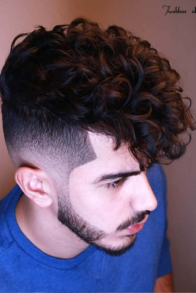 Curly Top Shaved Sides #menhairstyles #hairstyles
