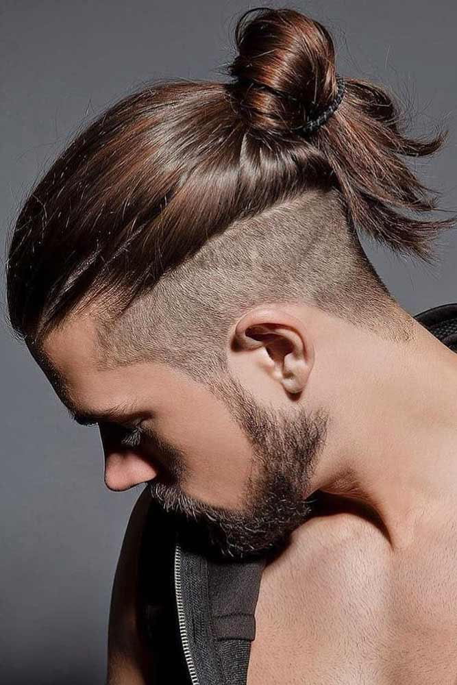 Long Undercut Into A Bun #menhairstyles #hairstyles