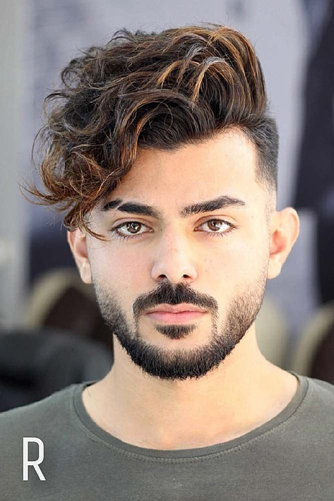 Mid Fade Layered Fringe #menhairstyles #hairstyles
