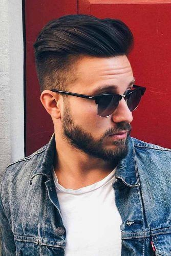 High Fade For Medium Length Hair #menhairstyles #hairstyles
