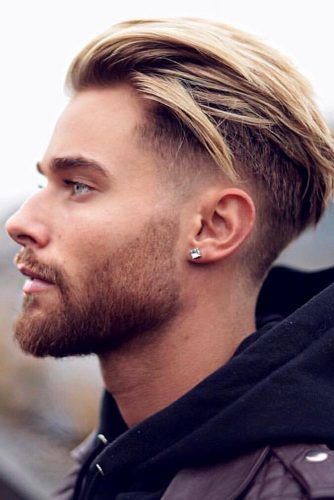 Brushed Back & Faded #menhairstyles #hairstyles