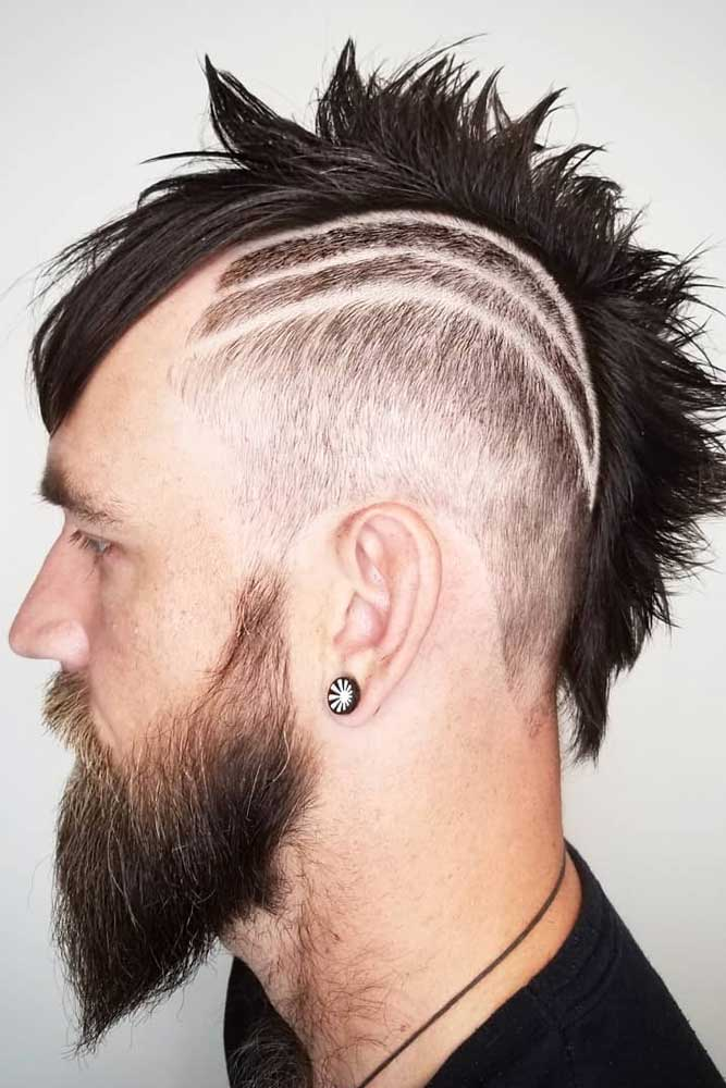 Faded & Shaved Mohawk #menhairstyles #hairstyles