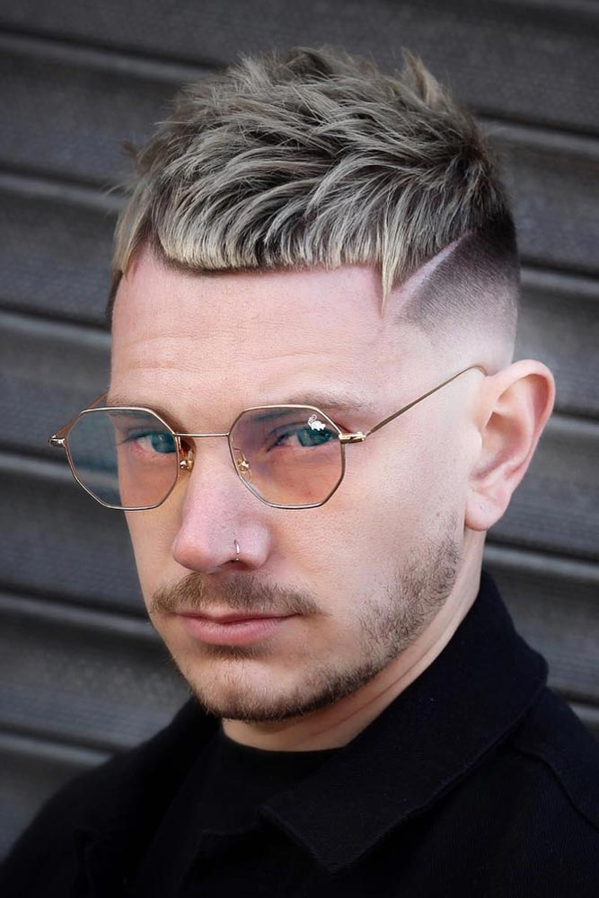 Short Layered Cut With Outlined Cropped Fringe #menhairstyles #hairstyles