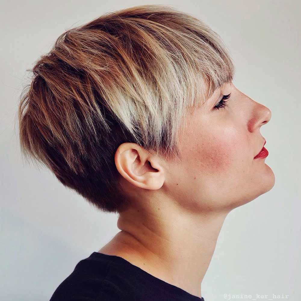 Blonde Pixie With Long Layers