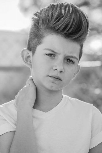Medium Brushed Up Cuts Pompadour #boyhaircuts