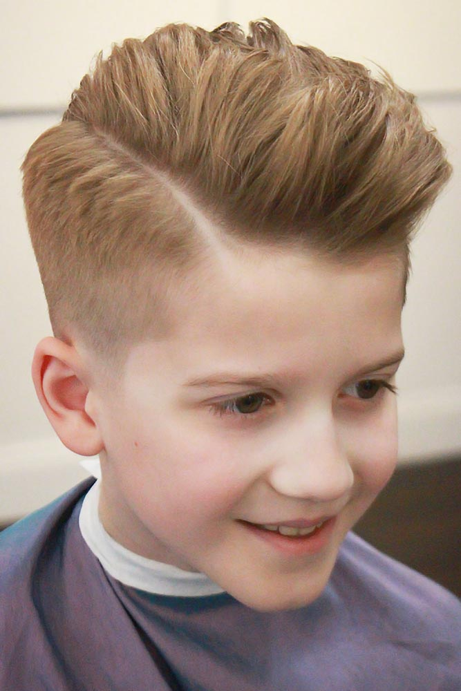 Medium Comb Over Cuts Side Part #boyhaircuts