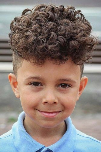 Curly Long Top And Shaved Sides #boyshaircuts #haircuts #hairstyles