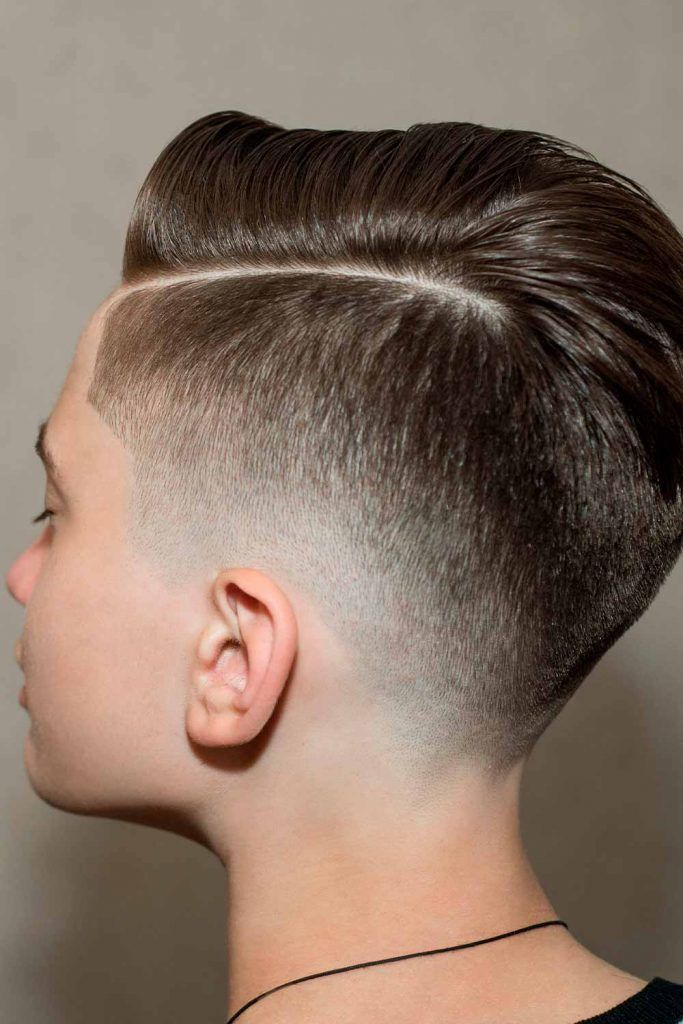 Hard Part Hairstyle With Fade Undercut