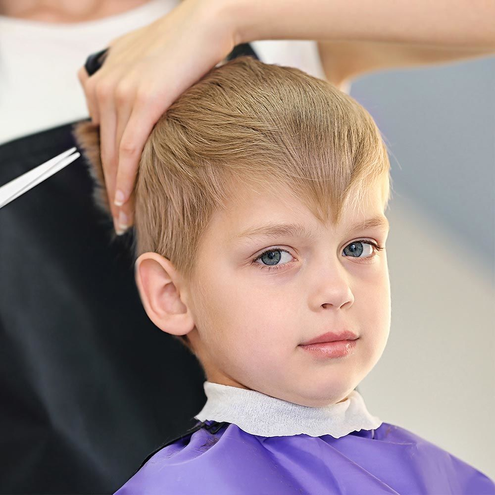 Pull Back The Section Of Hair Right Behind The Front #boyhaircuts