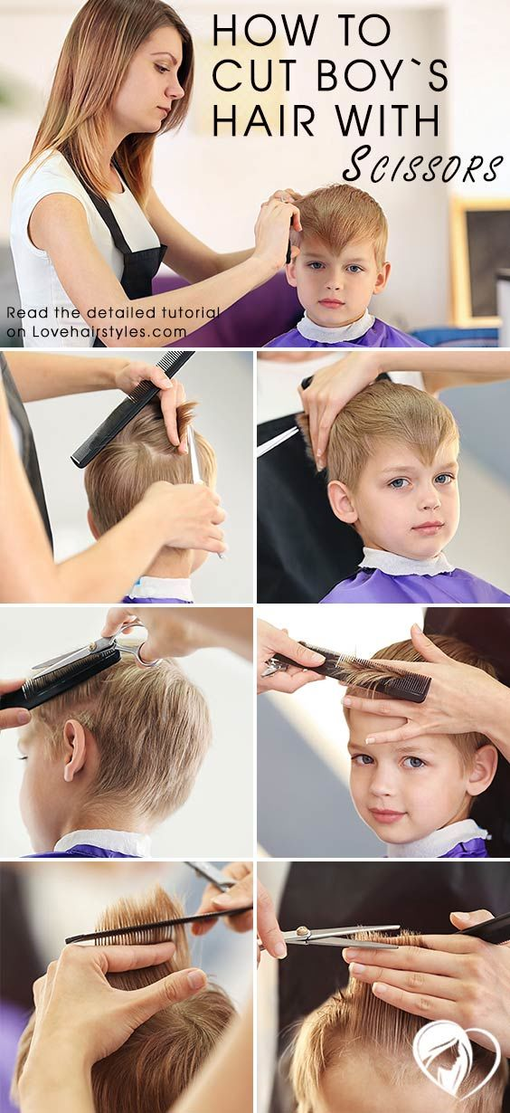 How To Cut Boy's Hair With Scissors #boyhaircuts