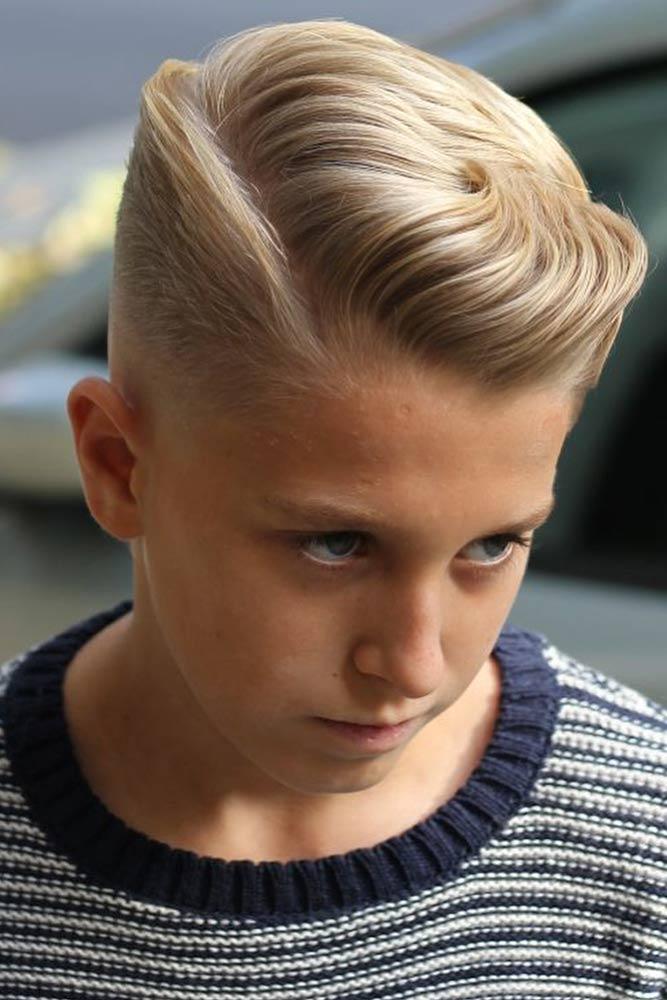 Side Parted Long Cuts Blonde #boyhaircuts